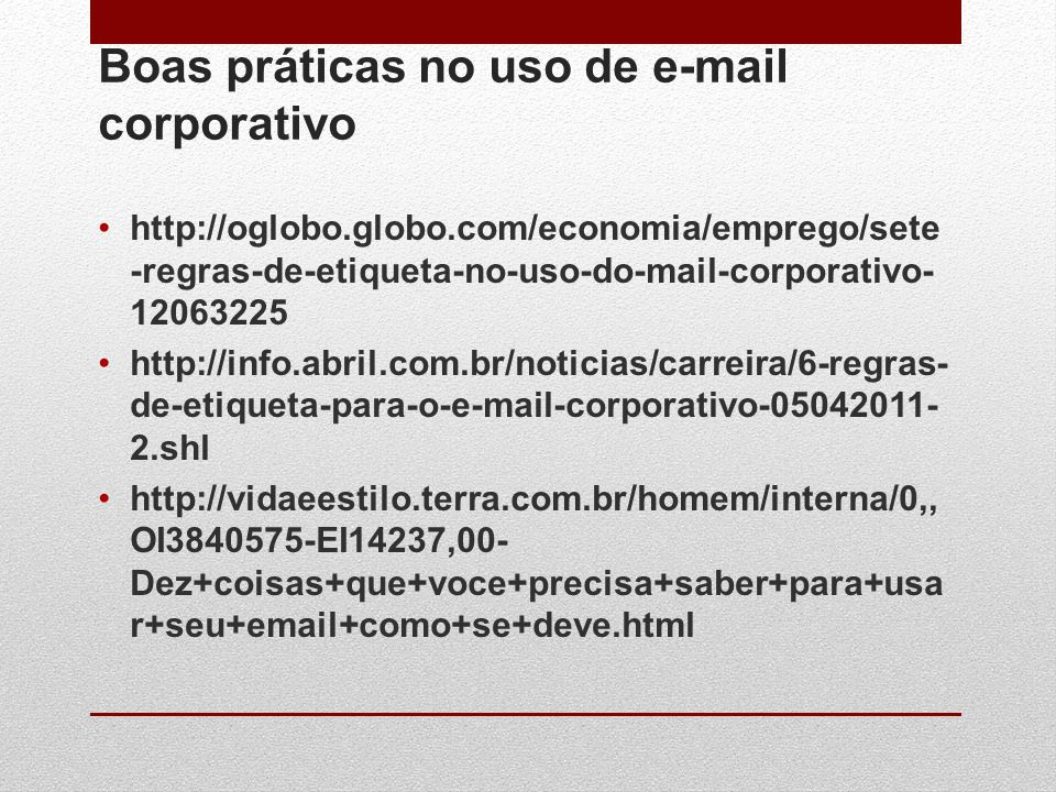 Boas práticas no uso de e-mail corporativo