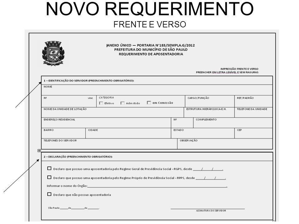 NOVO REQUERIMENTO FRENTE E VERSO