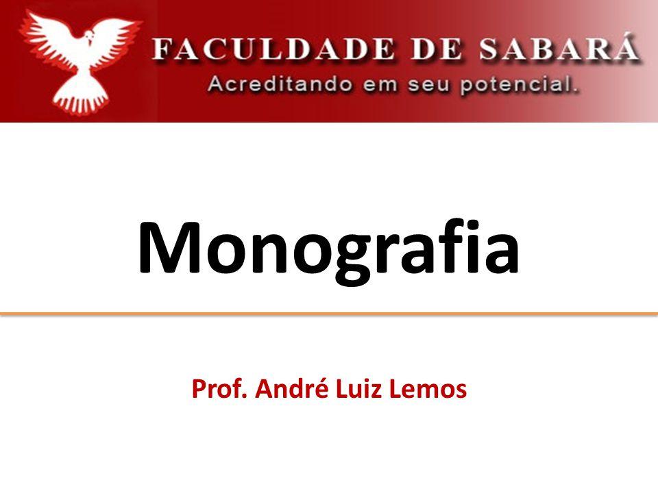 Monografia Prof. André Luiz Lemos