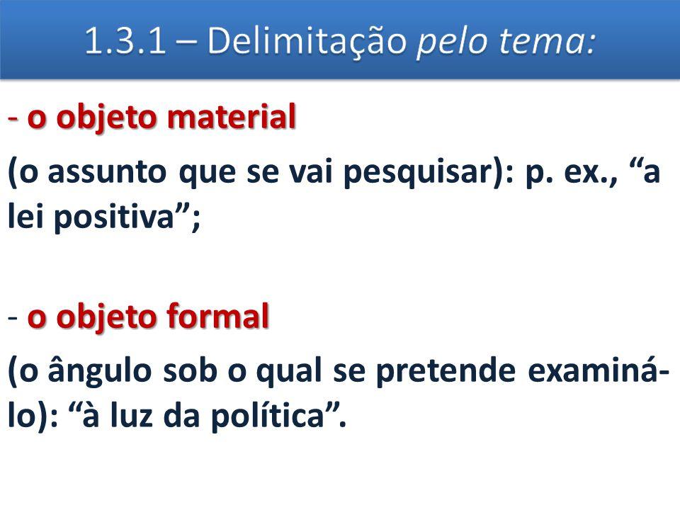 1.3.1 – Delimitação pelo tema: