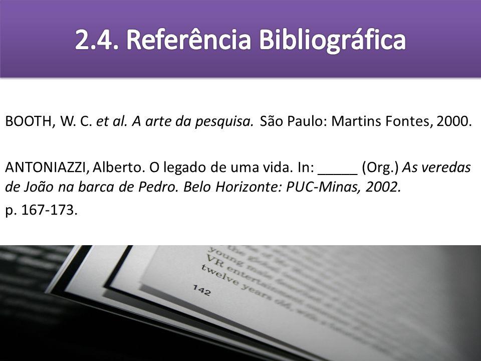 2.4. Referência Bibliográfica