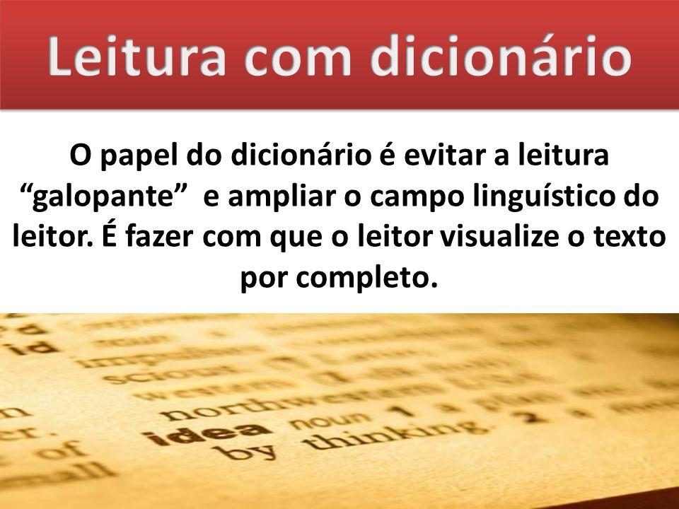 Leitura com dicionário