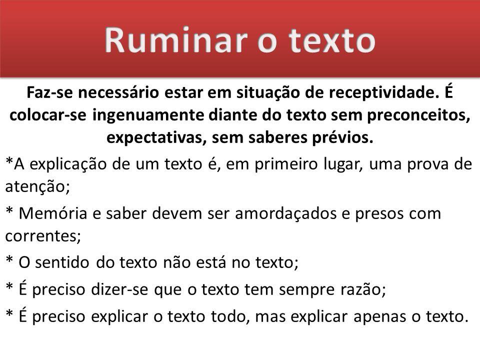 Ruminar o texto