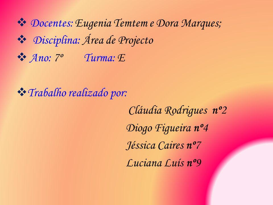 Docentes: Eugenia Temtem e Dora Marques;
