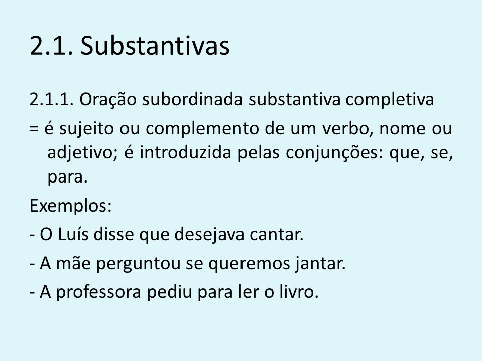 2.1. Substantivas
