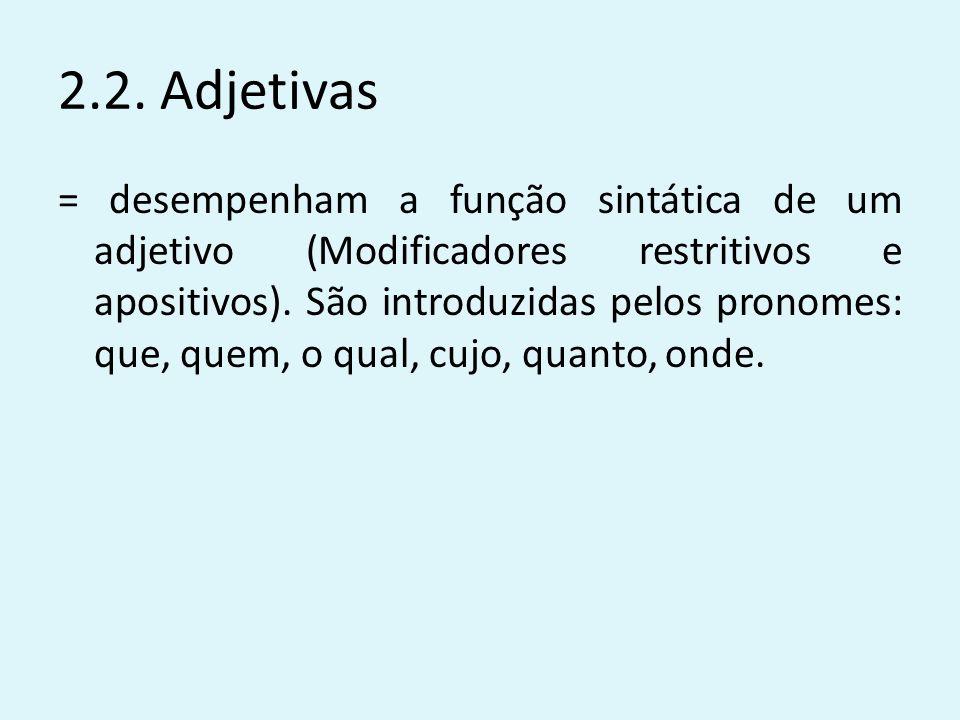 2.2. Adjetivas
