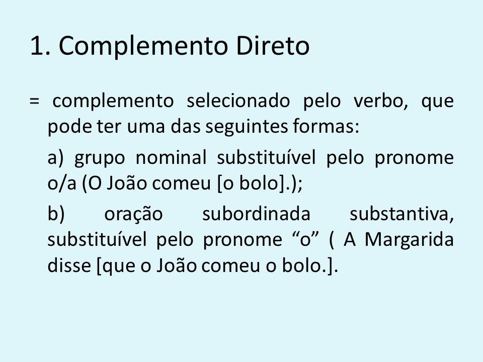 1. Complemento Direto