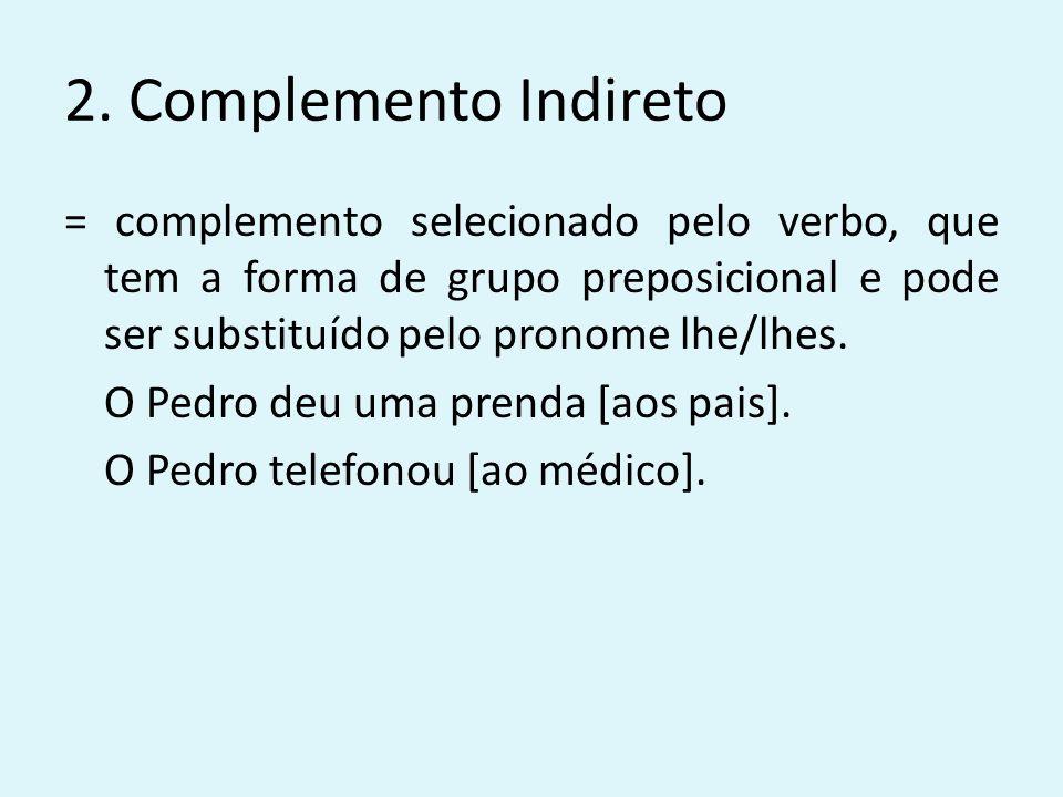 2. Complemento Indireto