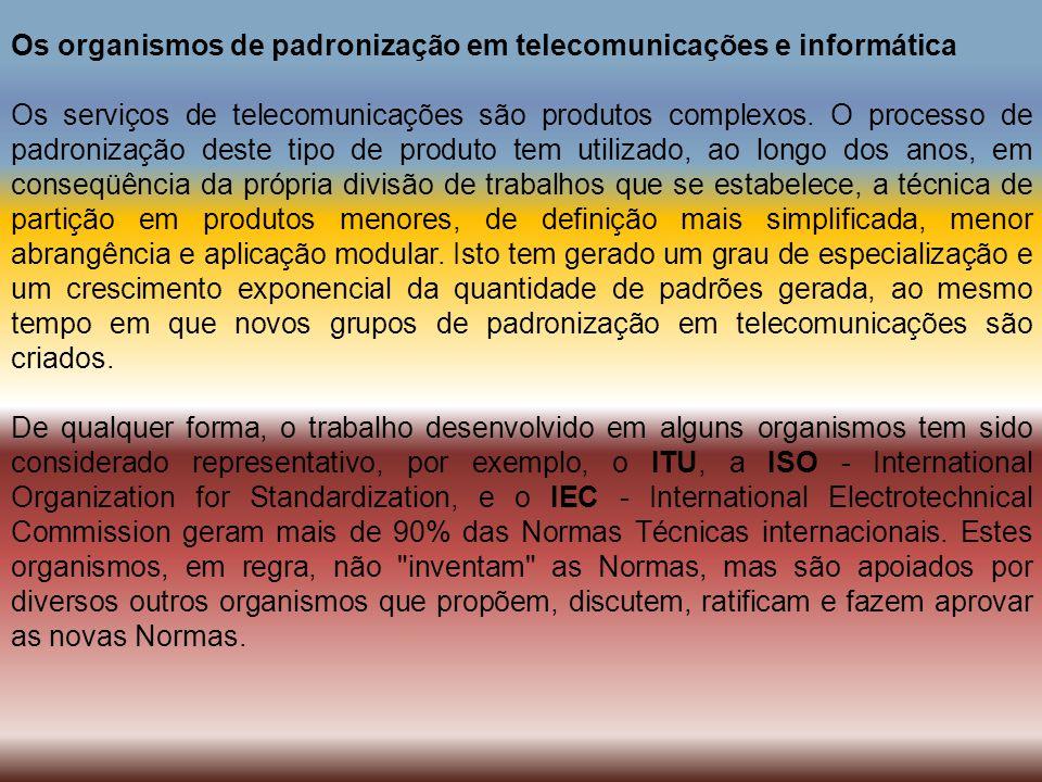 Os organismos de padronização em telecomunicações e informática