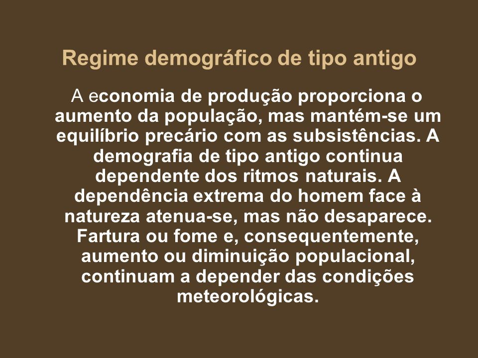 Regime demográfico de tipo antigo
