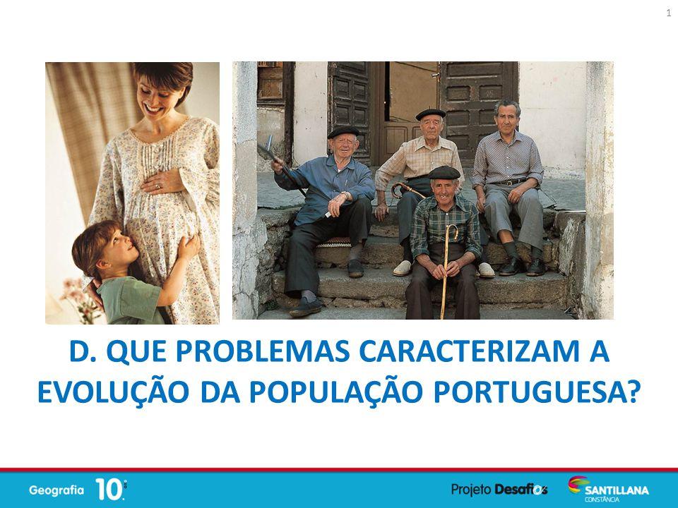 D. Que problemas caracterizam a evolução da população portuguesa