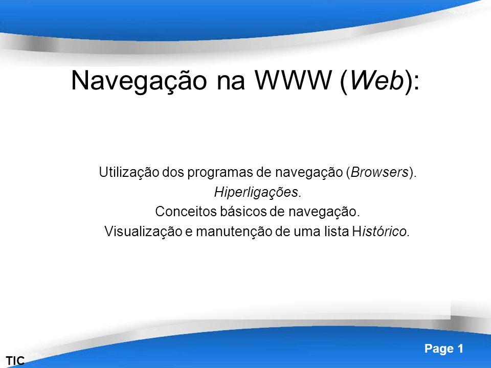 Navegação na WWW (Web):