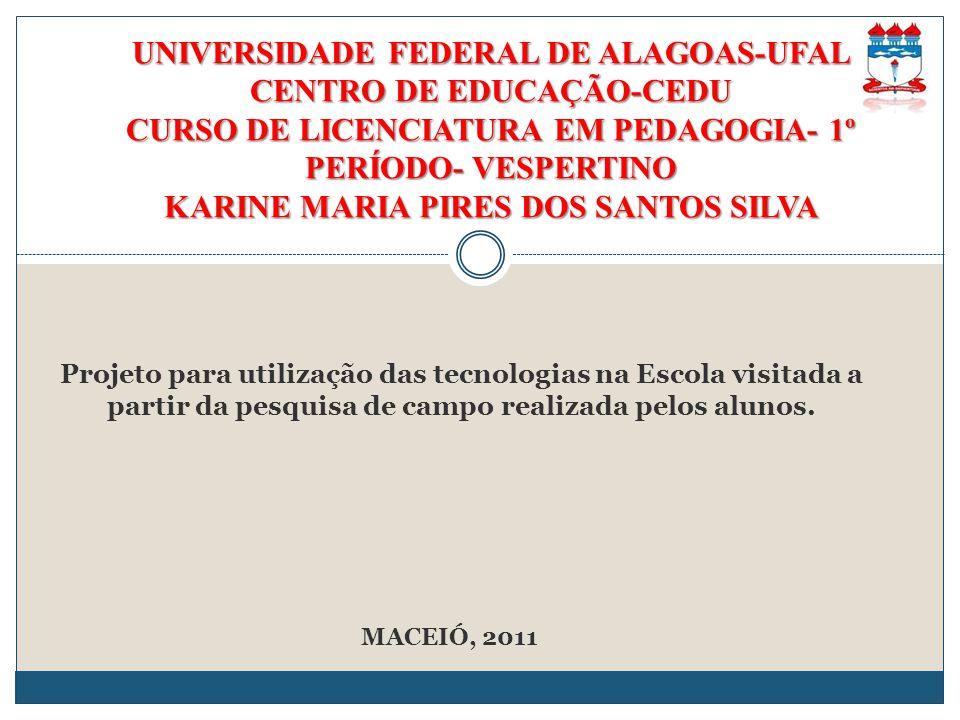 UNIVERSIDADE FEDERAL DE ALAGOAS-UFAL CENTRO DE EDUCAÇÃO-CEDU