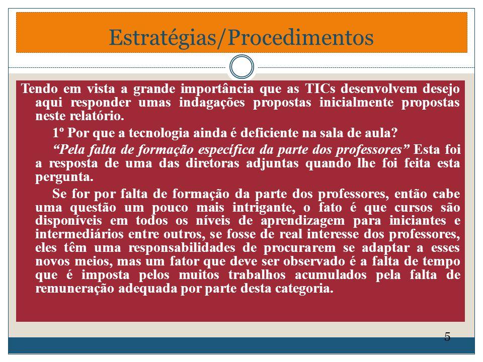 Estratégias/Procedimentos
