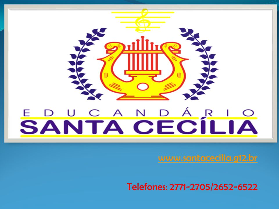 www.santacecilia.g12.br Telefones: 2771-2705/2652-6522