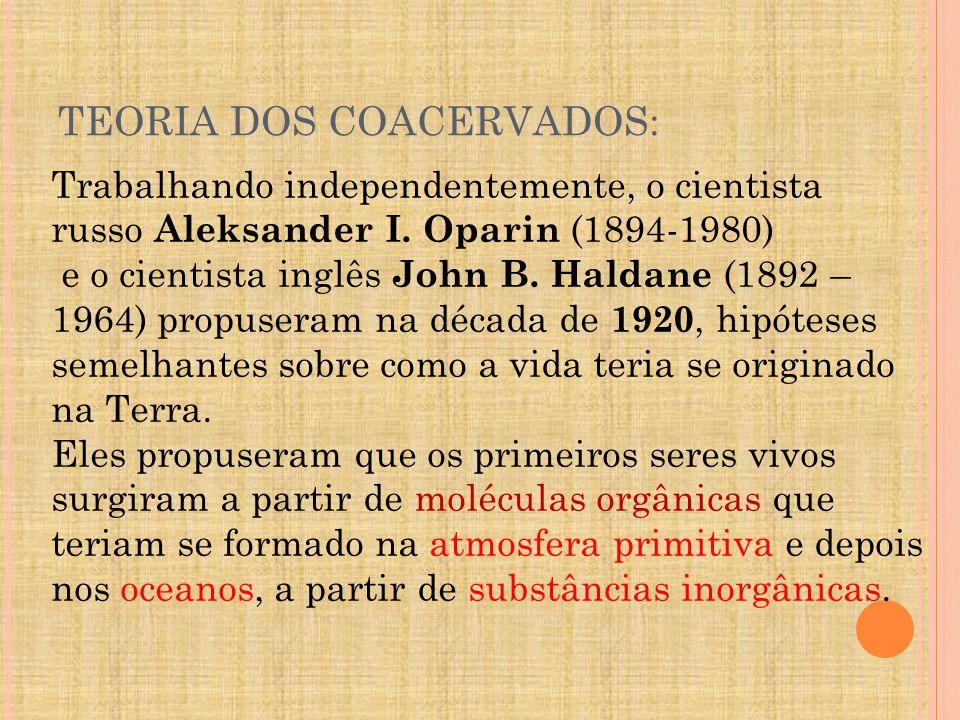 TEORIA DOS COACERVADOS: