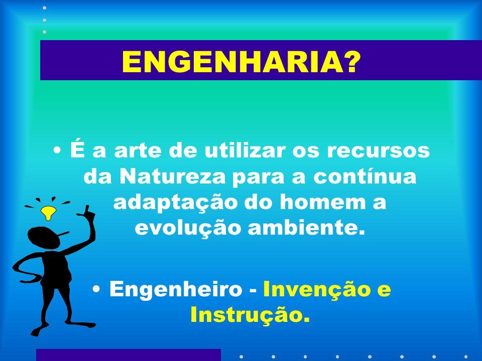 Engenheiro - Invenção e Instrução.
