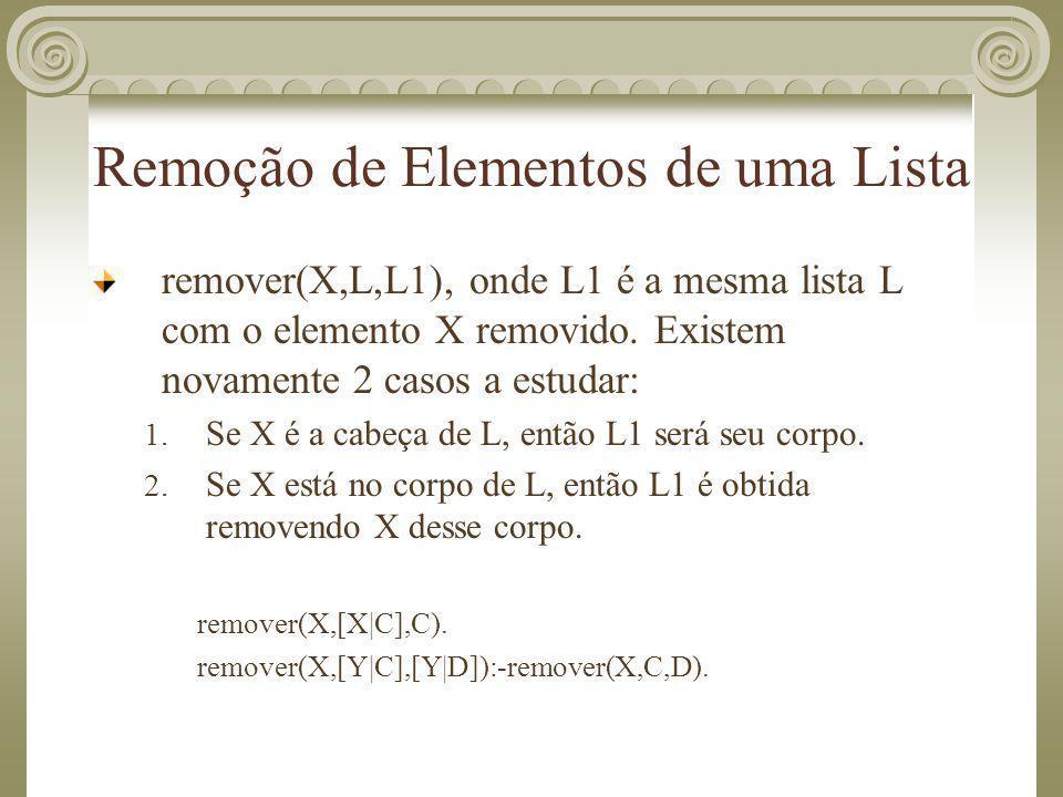 Remoção de Elementos de uma Lista