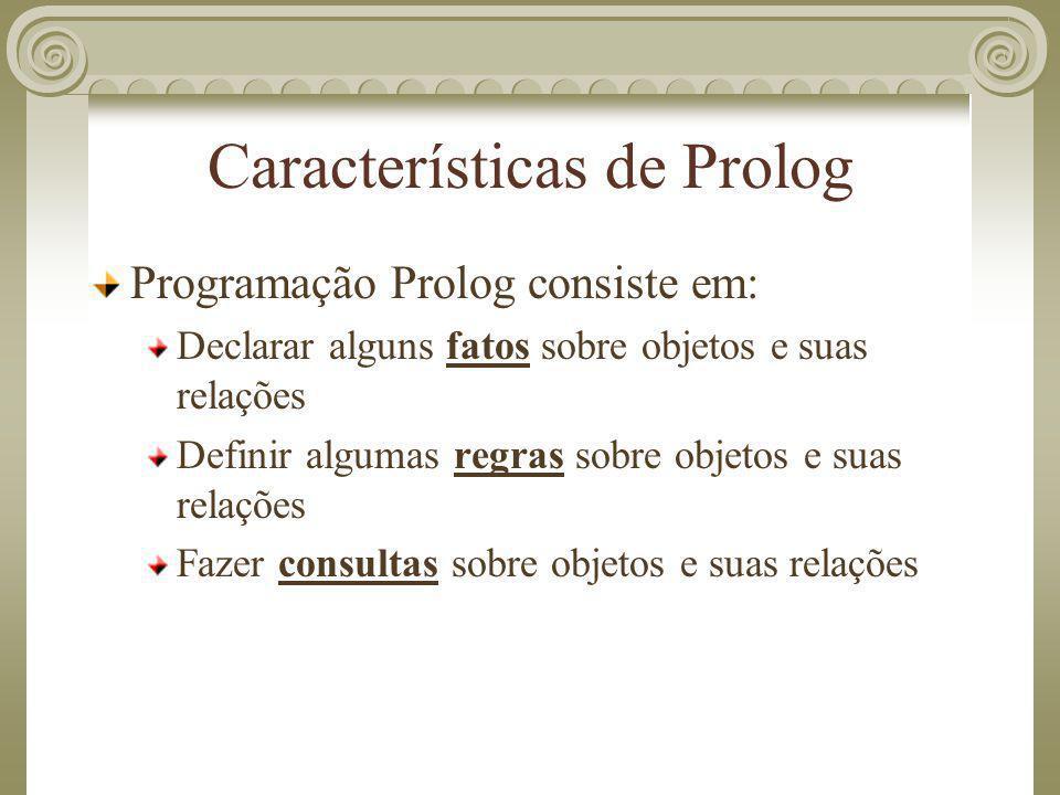Características de Prolog