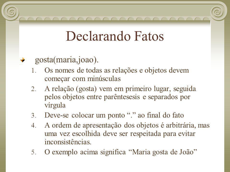 Declarando Fatos gosta(maria,joao).
