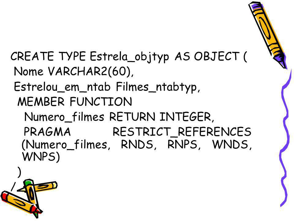 CREATE TYPE Estrela_objtyp AS OBJECT (