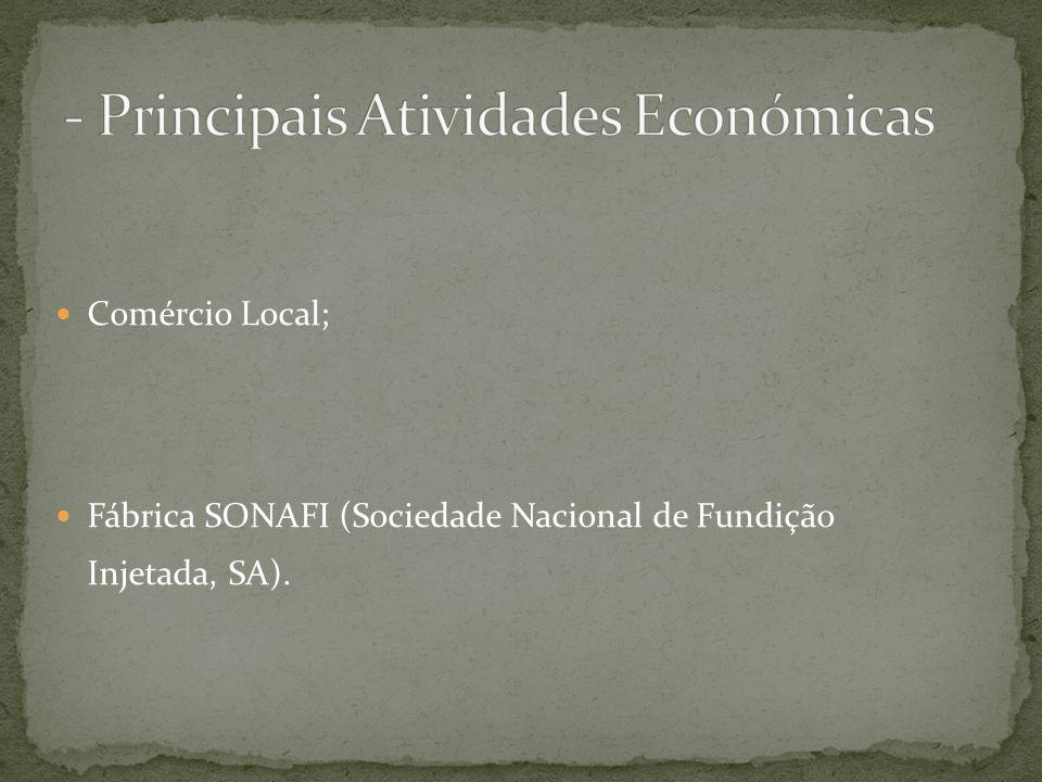 - Principais Atividades Económicas