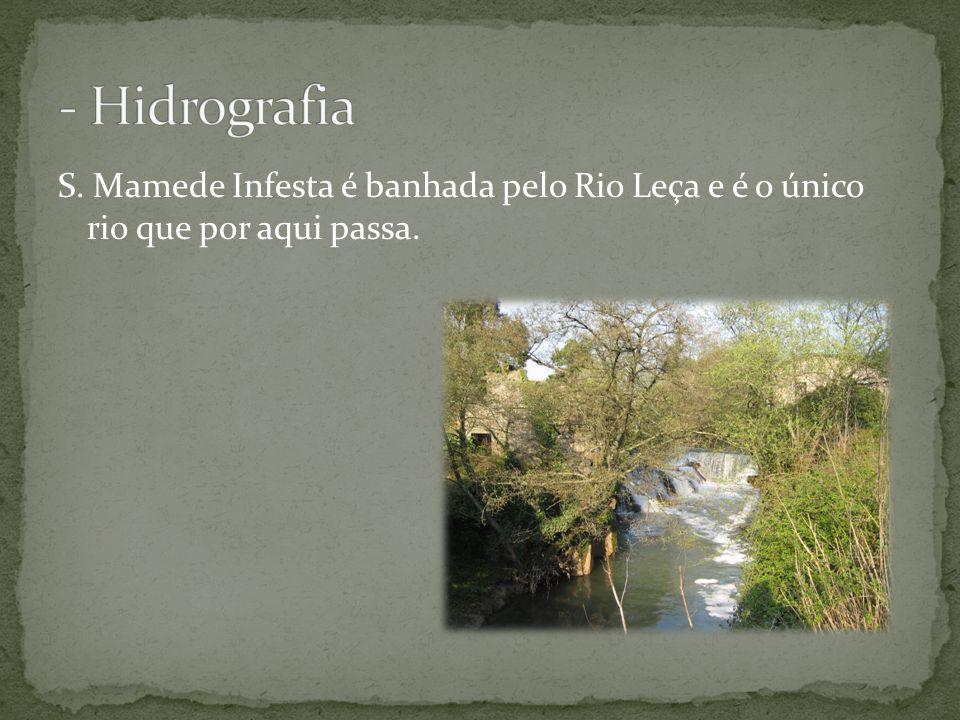 - Hidrografia S. Mamede Infesta é banhada pelo Rio Leça e é o único rio que por aqui passa.