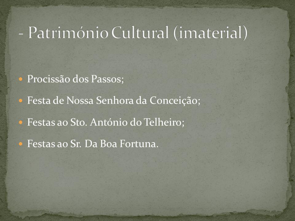 - Património Cultural (imaterial)