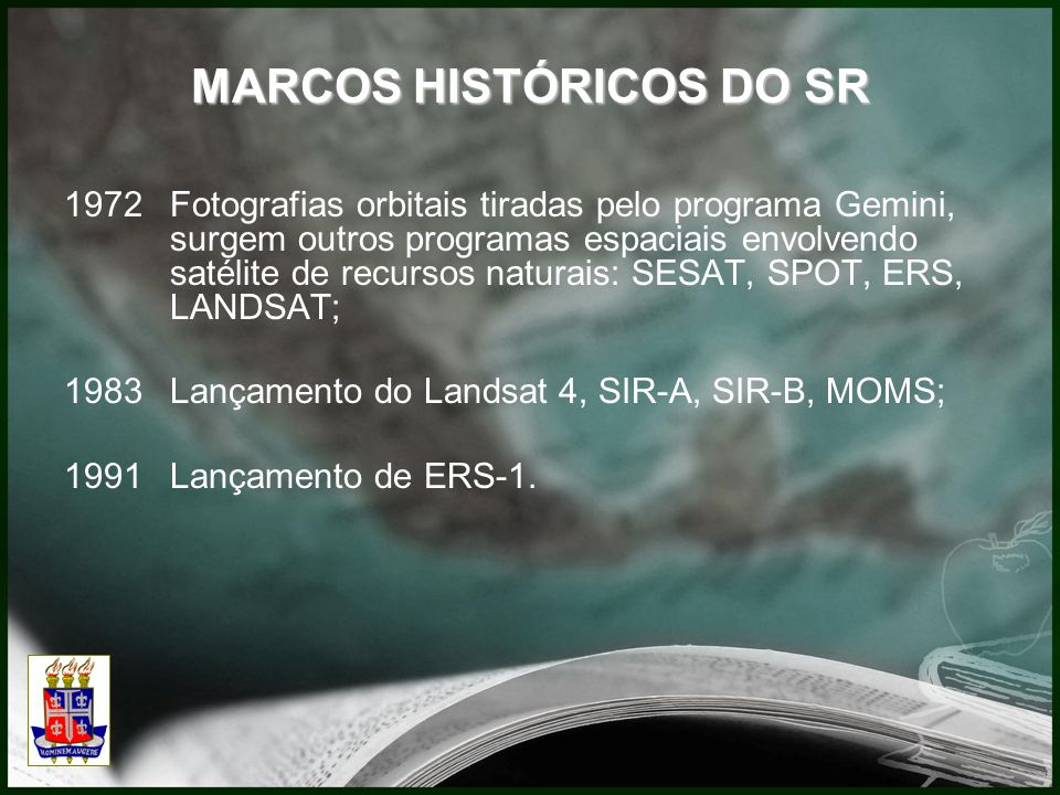 MARCOS HISTÓRICOS DO SR