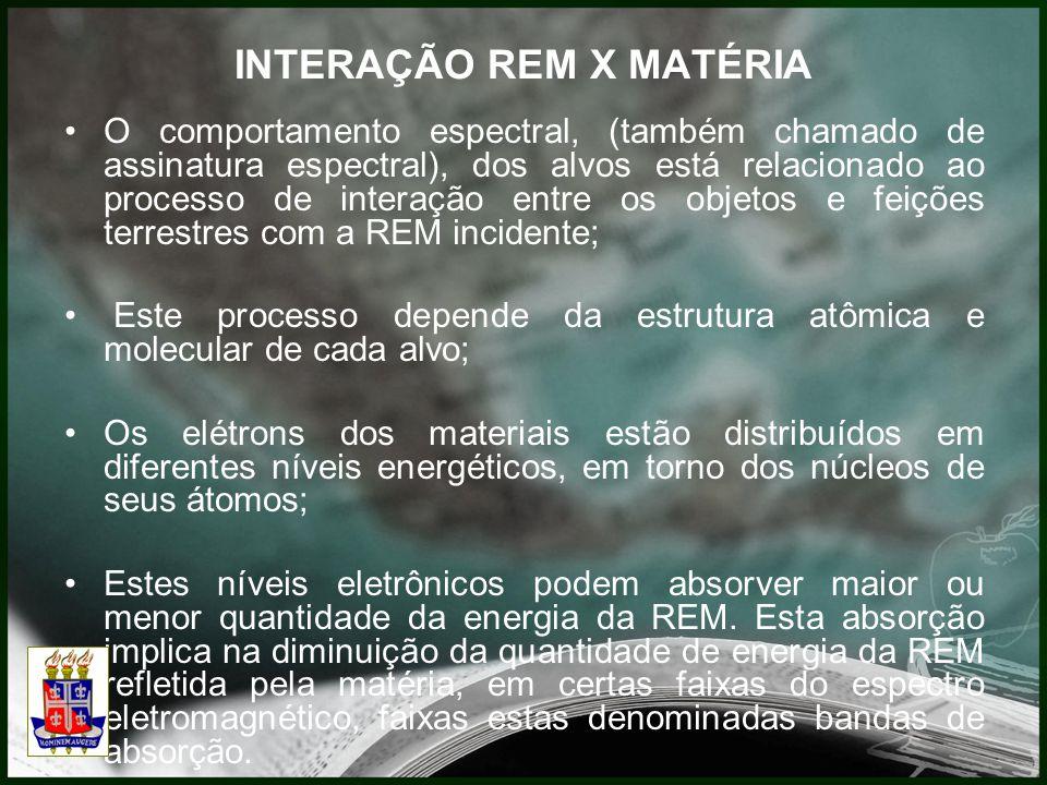 INTERAÇÃO REM X MATÉRIA