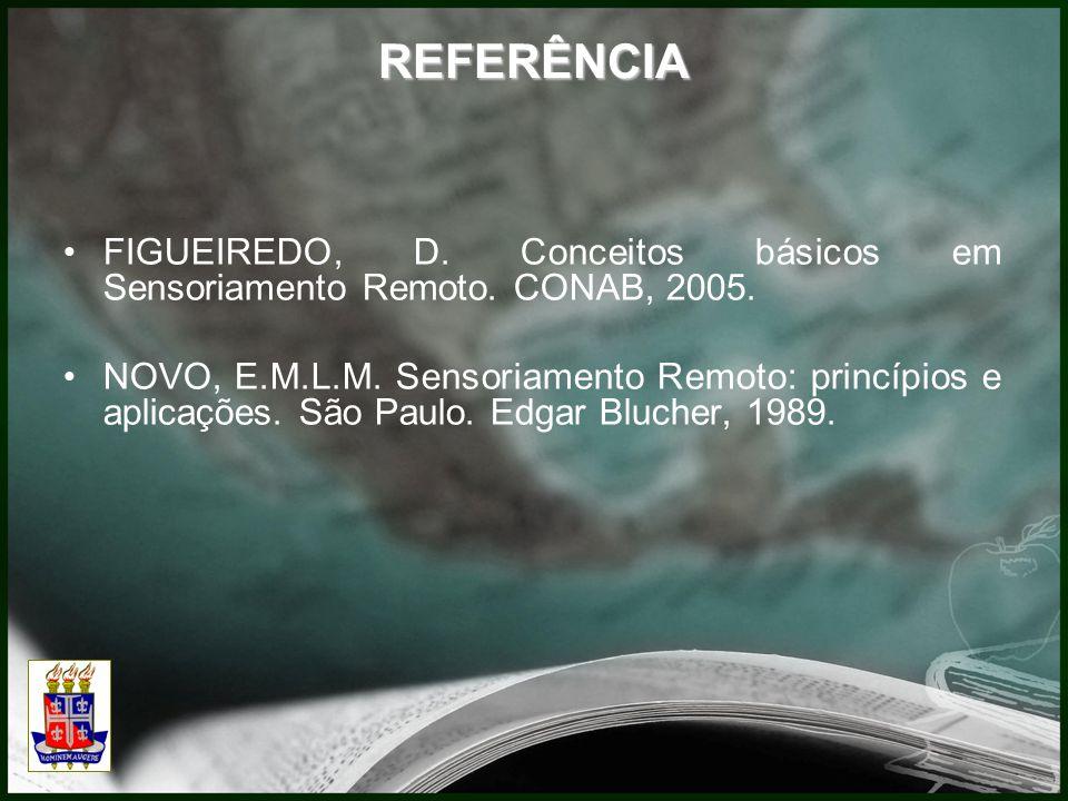 REFERÊNCIA FIGUEIREDO, D. Conceitos básicos em Sensoriamento Remoto. CONAB, 2005.