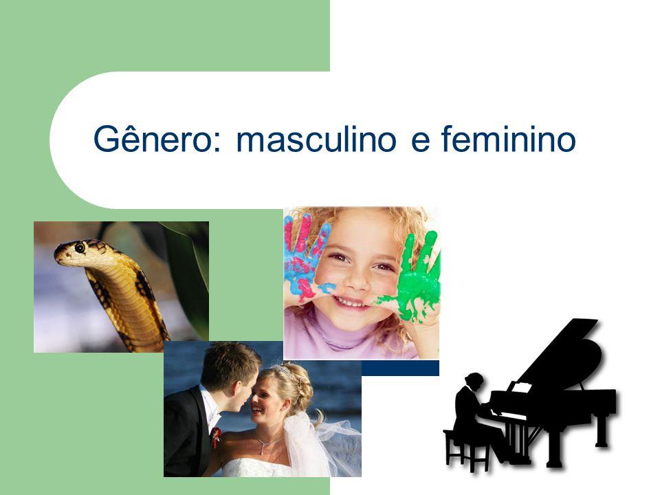 Gênero: masculino e feminino