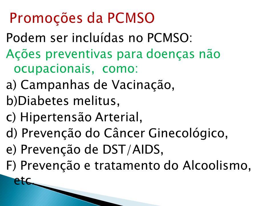 Promoções da PCMSO