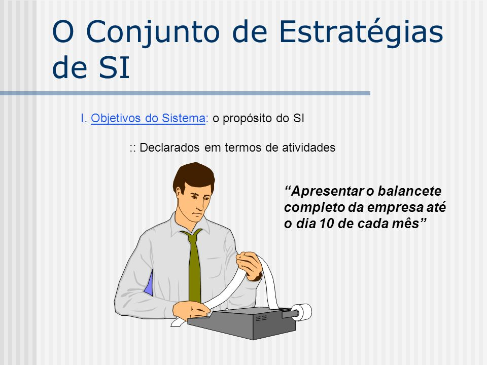 O Conjunto de Estratégias de SI