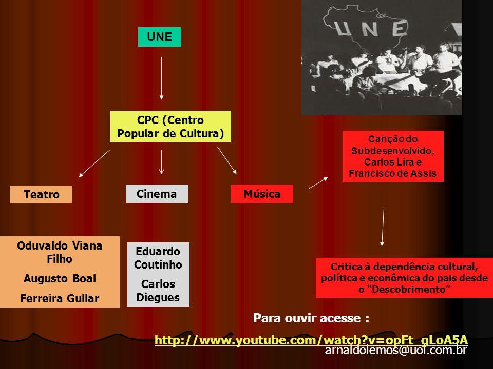 UNE Para ouvir acesse : http://www.youtube.com/watch v=opFt_gLoA5A
