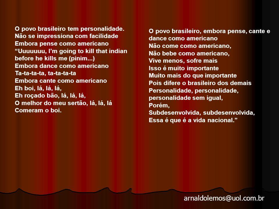 O povo brasileiro tem personalidade