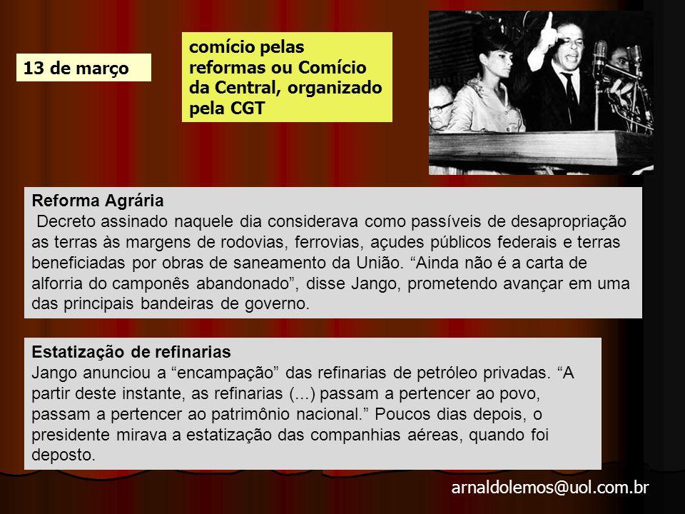 comício pelas reformas ou Comício da Central, organizado pela CGT