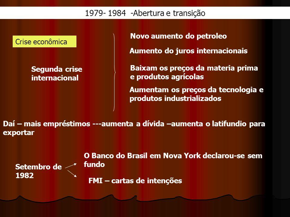 1979- 1984 -Abertura e transição