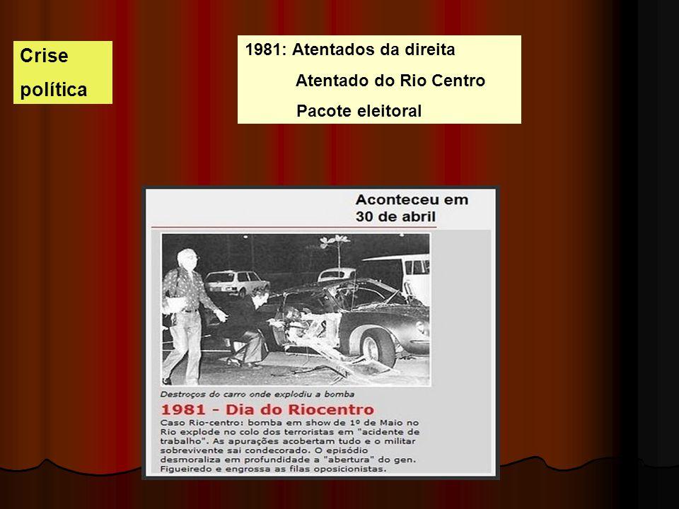 Crise política 1981: Atentados da direita Atentado do Rio Centro