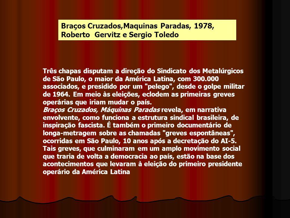 Braços Cruzados,Maquinas Paradas, 1978, Roberto Gervitz e Sergio Toledo