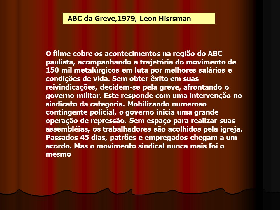 ABC da Greve,1979, Leon Hisrsman