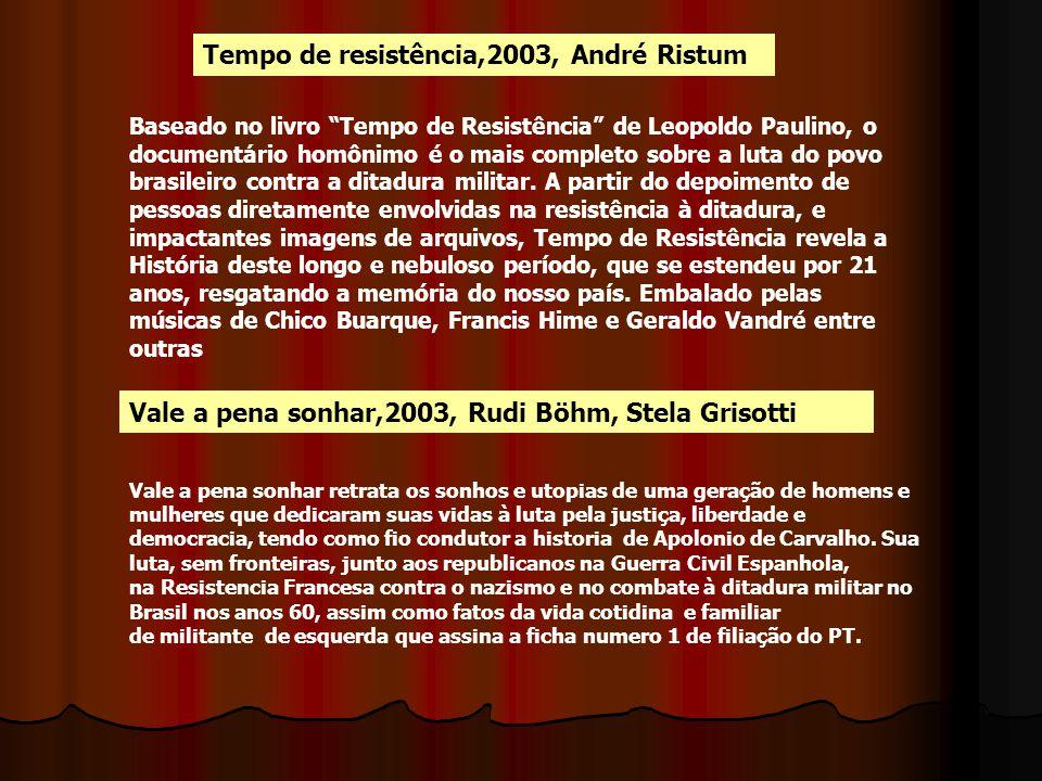 Tempo de resistência,2003, André Ristum