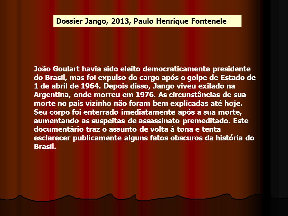 Dossier Jango, 2013, Paulo Henrique Fontenele