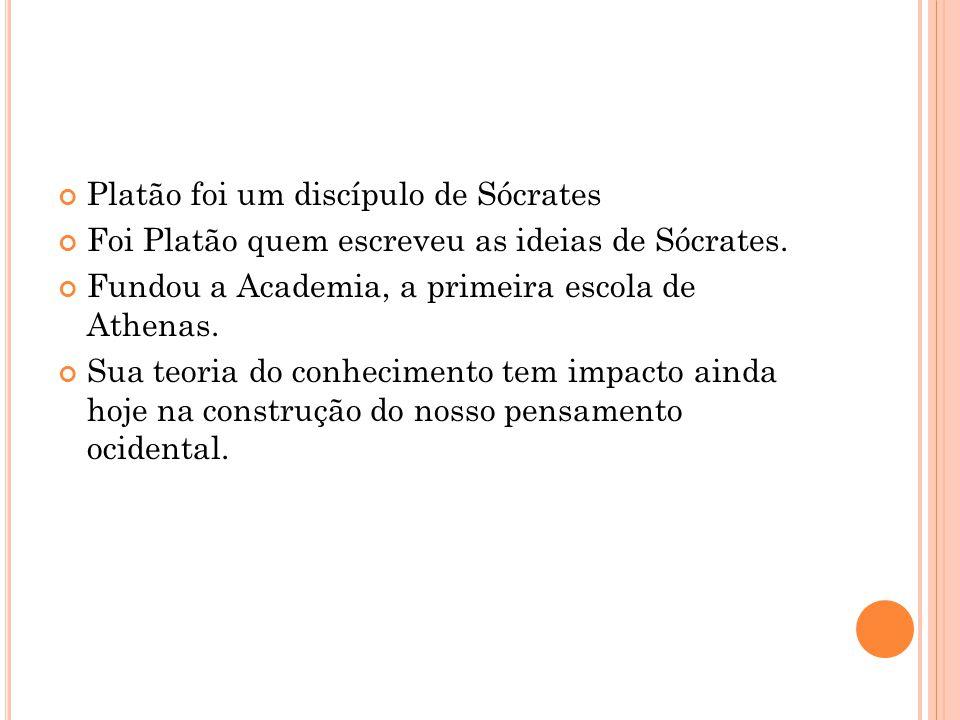 Platão foi um discípulo de Sócrates