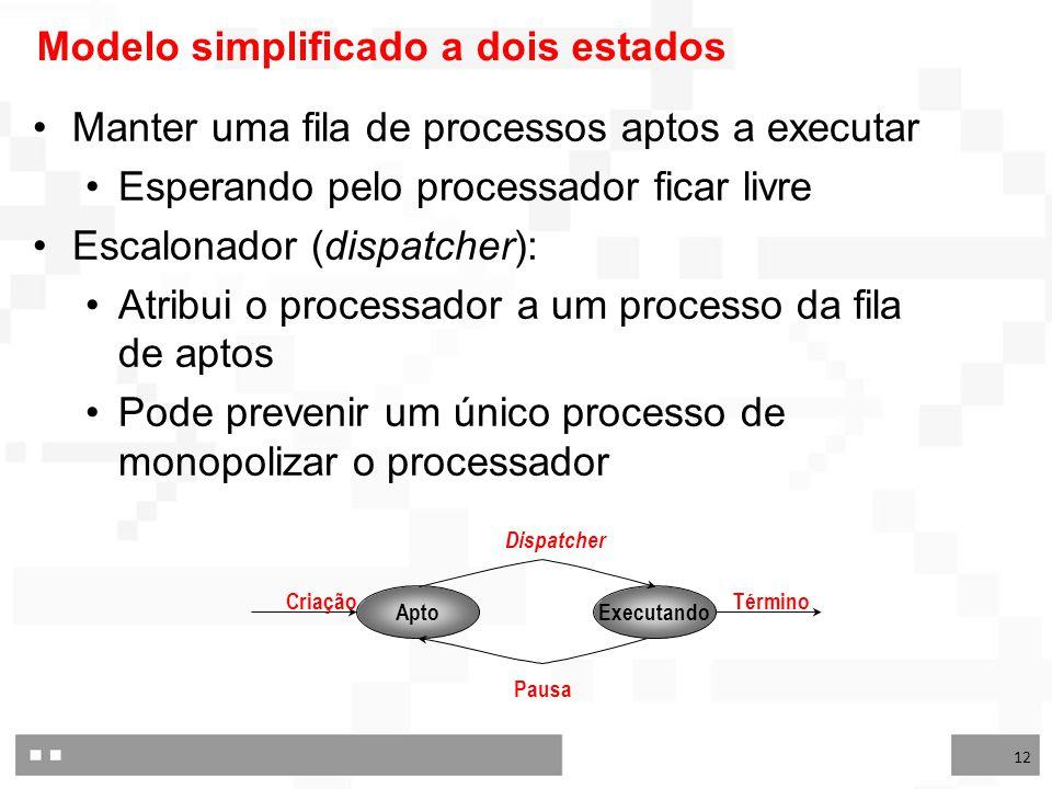 Modelo simplificado a dois estados