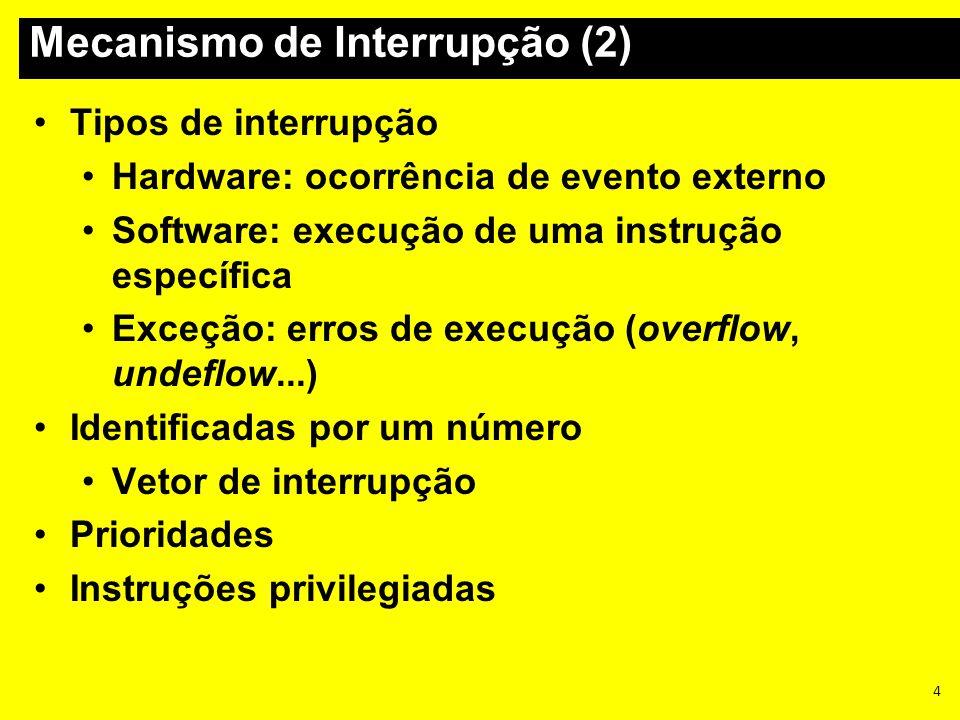 Mecanismo de Interrupção (2)