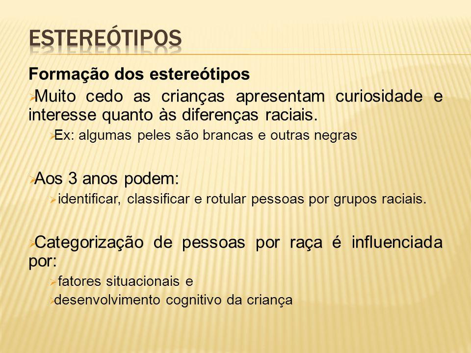 Estereótipos Formação dos estereótipos