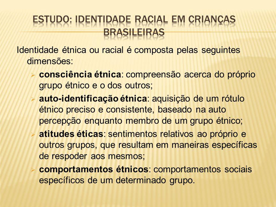 Estudo: identidade racial em crianças brasileiras