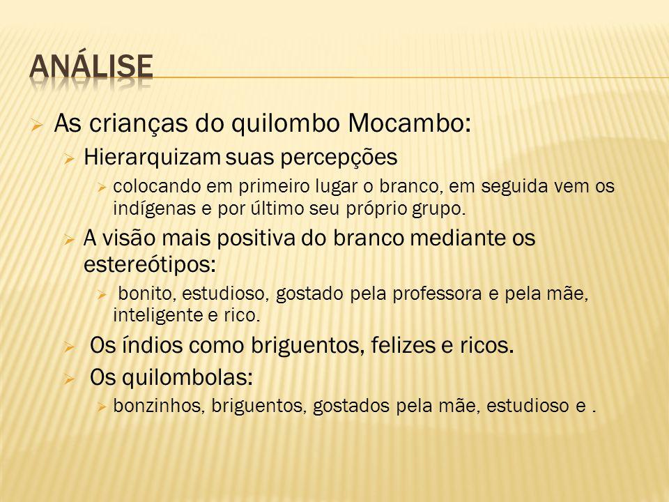 Análise As crianças do quilombo Mocambo: Hierarquizam suas percepções