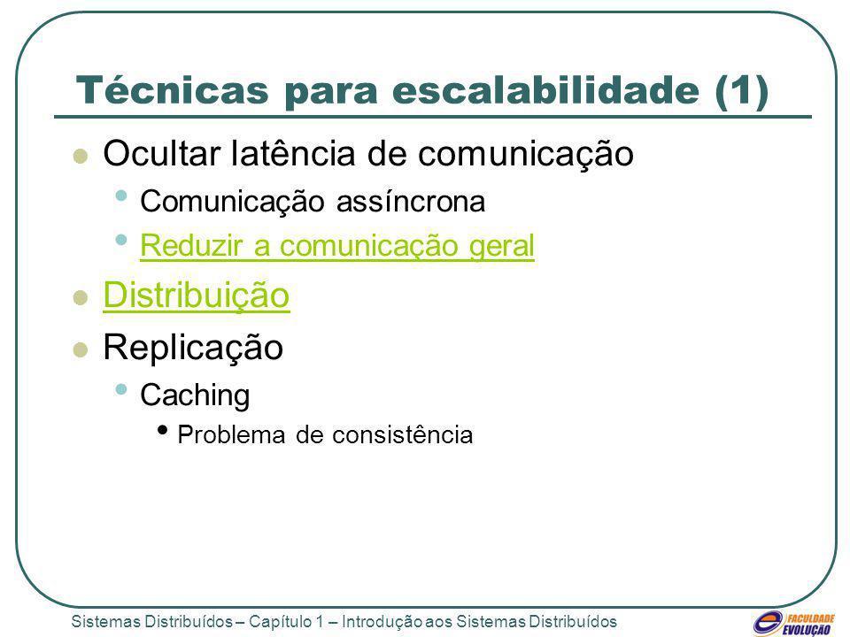 Técnicas para escalabilidade (1)